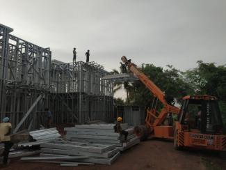 Prefab Towers - Construction Status - Kannur Kadampur